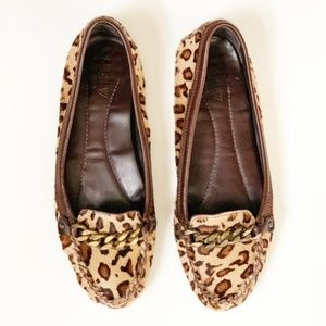 J. Crew Collection Leopard Calf Hair Print Loafers